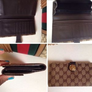 Gucci Signature Classic Brown Leather Wallet